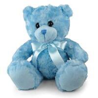 New Teddy Bear with Blue Ribbon Kids Plush Stuffed Animals Toys Birthday Gifts
