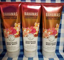 Bahamas Passionfruit & Banana Flower Bath Body Works Lot Shower Bath Wash Set