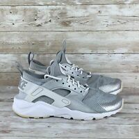 Nike Air Huarache Run Youth Size 5Y Silver White Ultra GS Athletic Running Shoes