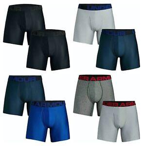 "Under Armour Mens Tech 6"" Soft Comfort Stretch BoxerJock Underwear Shorts 2-Pack"