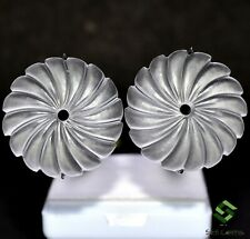 Natural White Crystal Hand Made Carving Pair 10.00 Cts Loose Gemstones