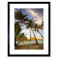 Beaches Cultural Landscape Bora Tropical Hammock Palm Tree Framed Wall Art Print