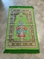 Islamic Muslim Prayer Rug Carpet Mat Tassel Tapestry Islamic Praying FREE SHIP