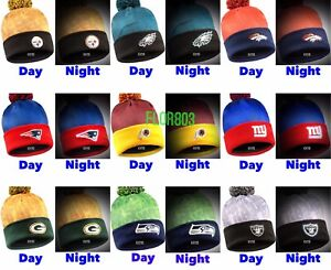 NFL Football Team Mini Logo Light Up Beanie Stretch Knit Hat
