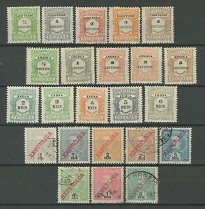 Portugal colonies 1900/1930 ☀ Postage due sets ☀ MH/Used