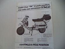 advertising Pubblicità 1984 FACO e VESPA PK 125