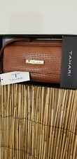 TAHARI Womens Wallet Clutch SnapZip Around Id Protect Lining NEW BROWN