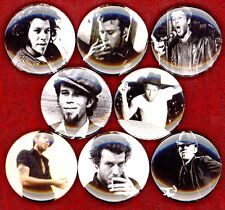 """Tom Waits 8 NEW 1"""" buttons pins badges small change rain dogs STOCKING STUFFER"""