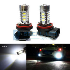 2x Xenon White H11 H8 LED Fog Light Bulbs 15W SMD 5730 High Bright Daytime DRL
