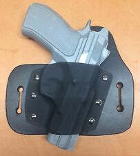 Leather Kydex Hybrid OWB holster for CZ 75d PCR compact