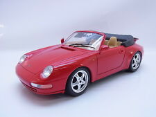 45070 | Burago Porsche 911 993 Cabriolet 1993–1998 Cabrio rot 1:18 Modellauto
