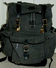 L.L. BEAN  CANVAS/LEATHER  LEATHER BOTTOM  BACKPACK