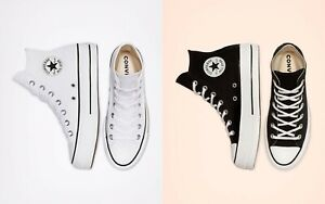 CONVERSE CANVAS PLATFORM CHUCK TAYLOR ALL STAR WOMEN SHOES. ALL SIZES.