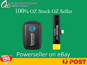 SARAMONIC Blink500B5 (RXUC+TX) 2.4GHZ WIRELESS MIC SYSTEM + DUAL USB-C RECEIVER