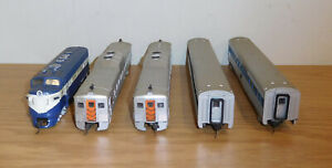 HO GAUGE LONG ISLAND F-3 POWER 'A' DIESEL STREAMLINED PASSENGER BUDD CARS TRAIN