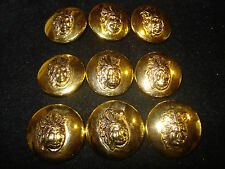 APACHE  9 ps  BLAZER  GOLD METAL  BUTTONS 1 SET PERFECT FOR  JACKET SUIT COAT