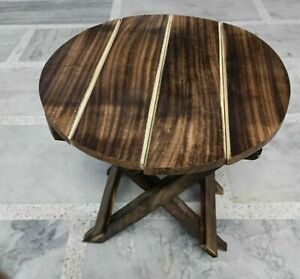 Small Folding Wooden Table Outdoor Patio Birthday Cake Furniture Table