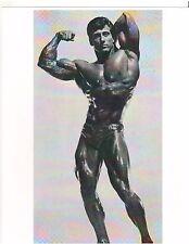bodybuilder Frank Zane 3 x Mr Olympia Bicep Pose Muscle Photo B+W