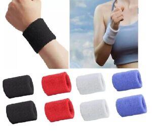 2 Gym Exercise Sports Wrist Band Sweatband Wristband Yoga Fitness Stretch Unisex