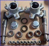 DEXTER 008-247-90 10x2-1//4 5 hole cap seal nuts 4.5 BC HUB//DRUM w// bearings