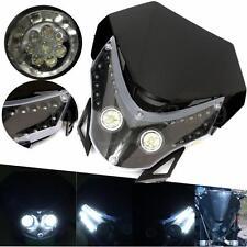 Universal Motorcycle Headlight Fairing Light Dual Street Fighter Dirt HeadLight