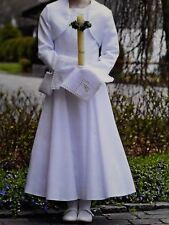 Bian Corella weise Kommunionkleid weiß Gr 140 146 152 Jacke Bolero Mädchen Kleid