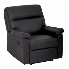 Single Recliner Chair Sofa Furniture Modern Leather Chaise Couch Home Theater