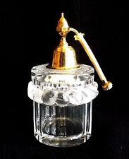 Original Vintage Lalique France Crystal Robinson Atomizer Perfumer Raised Birds