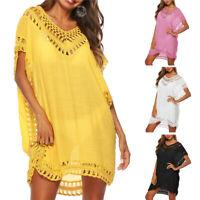 Plus Size Women Swimwear Swimsuit Beach Wear Bikini Cover Up Summer Dress US