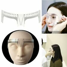Tool Reusable Tattoo Supplies Measure Eyebrow Ruler Microblading Brow Stencil