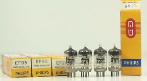 One (1) NOS PHILIPS EF95 / 6AK5 Holland Tube - Hickok Tested