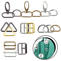 Swivel Snap Hook Slider Buckle D Ring for Webbing Straps Backpack Bag DIY Craft