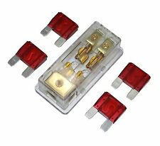Free 4Pcs 50A Fuse Maxi Fuse Holder 3 X 4Ga In 2X 8Ga Out Gold Plated