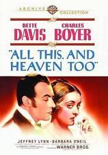 ALL THIS AND HEAVEN TOO/BETTE DAVIS/CHARLES BOYER/CLASSIC ROMANTIC DRAMA RARE