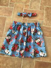 Handmade Skirt And Matching Headband 6 Yrs