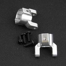 RC Silver Alum. Front C- Hub Uprights 2P For AXIAL 1:10 SCX10 Replaces AX80012