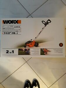 """WORX WG896 12 Amp 7.5"""" 2-in-1 Electric Lawn Edger & Trencher"""