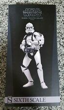 Clone Trooper DELUXE Shiny STAR WARS SIDESHOW Collectibles 1:6 Scale 12""