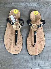 BNWT Michael Kors Black Flip Flop Sandals UK Size 7