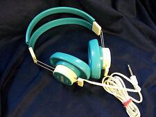 "VINTAGE retro blue TELEX 610-1 MONO HEADPHONES 1/4"" PLUG AQUA NOS  new"