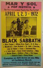 Black Sabbath Concert Poster 1972 Mar Y Sol Pop Festival B.B. King Fleetwood Mac