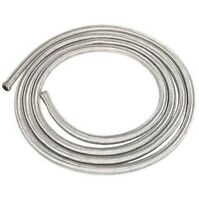 "3m of 10mm (3/8"") Fuel Hose Stainless Steel Braided 10 mm Length SAE30R6/R7"