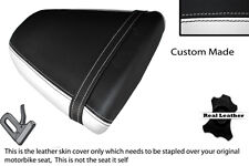 WHITE & BLACK CUSTOM FITS SUZUKI SRAD GSXR 96-00 600 750 REAR SEAT COVER