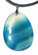 Rare Agate Blue Pendant Pendant Drop Chain Pendant Polished (Nr.19) *