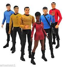 6 x Star Trek - Klassic Figuren Kirk, Spock, Uhura ...TOS original Klassik Crew