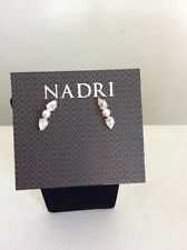 Zirconia Pearl Ear Crawler Nd #112 $35 Nadri Gold Tone Melody Cubic