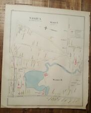Antigüedad Mapa - 1 De Nashua - Hillsborough Condado -Nuevo Hampshire- 1892