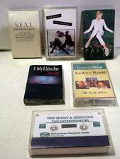Lot of 6 vintage cassettes- SEAL-Leann RIMES-Celine DIONE-Faith HILL-Tina TURNER