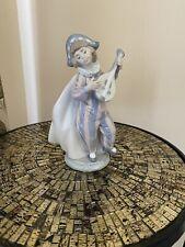 Lladro 5696 Mandolin Serenade Gloss Jester (no box)