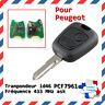 Clé vierge + électronique avec transpondeur ID46 PCF7961 pour PEUGEOT 206 206CC